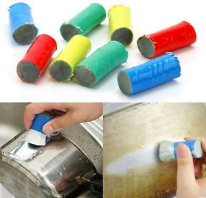 10X Magic Stainless Steel Metal Wash Brush Rust Remover Cleaning Detergent Stick