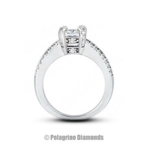 5 Carat D VS1 Radiant Cut Natural Certified Diamonds Platinum Side-Stone Ring