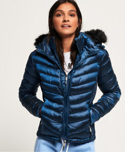 Superdry Womens Hooded Luxe Chevron Fuji Jacket $67.25