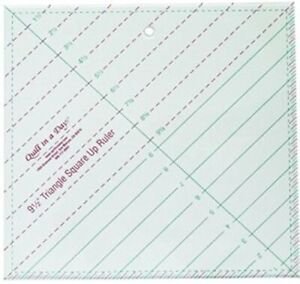 Quilt In A Day Triangle Square Up Ruler 9 1 2x9 1 2 $18.95