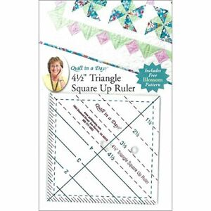 Quilt In A Day Triangle Square Up Ruler 4.5quot; by 4.5quot; $14.95