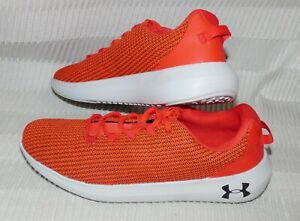 A+ MENS UNDER ARMOUR UA RIPPLE MESH LIGHTWEIGHT SHOES ORANGE #3021186 SIZE 10.5