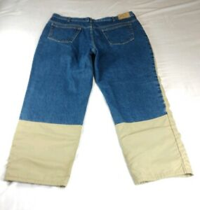 Cabelas Men's 42x29 (ACT. SZ) Upland Hunting Two Tone Blue Tan Jeans Pants $79
