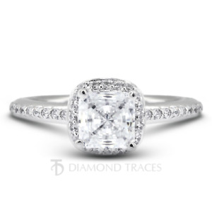 6 1/2ct D SI1 Radiant Natural Certified Diamonds 14k Gold Halo Side Stone Ring
