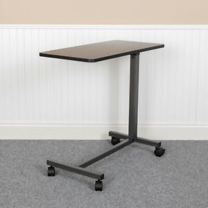 Adjustable Overbed Table with Wheels for Home and Hospital-Rolling Bedside Table