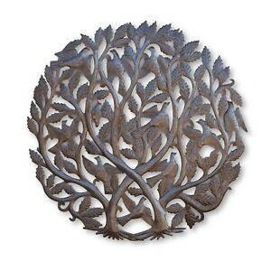 Tree of Life Haitian Metal Wall Art Sculpture 34.5x34.5 Inches $229.00