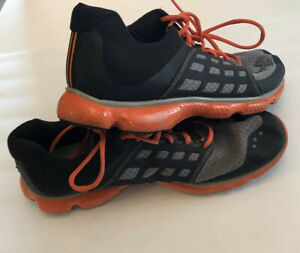 Under Armour Mens Micro G 4D Foam Black Gray Orange Running Shoes Size 10.5