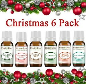 Christmas Holiday Essential Oil Set Pure Aromatherapy Balsam Fir Clove Cinnamon $11.95