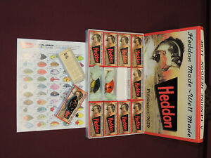Brand New Heddon 9630 Punkinseed Reissued #2 Set 12 Boxed Lures Plus Color Chart