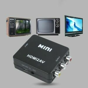 Mini HDMI To RCA 1080P Audio Video AV CVBS Adapter Converter For TV PS3 VHS VCR