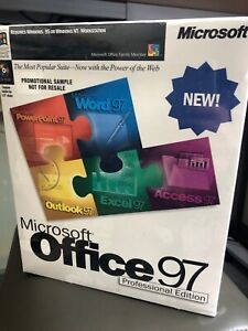 MINT/NIB Microsoft Office Pro 97 CD from 1997 collectible, movie prop.