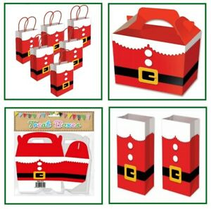 Santa Suit Red Christmas Novelty Table Present Sweet Gift Bag Plate Box