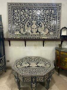 Antique Large Table Persian Design with Wall Hanging Solid Frame