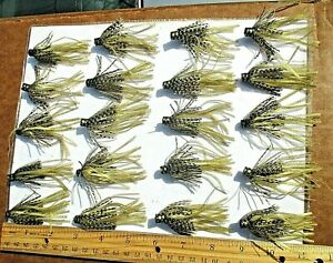 20ct GOLD BLACK SCALE 2.5quot; SILICONE HULA SKIRTS Bass Spinnerbaits Fishing Lures
