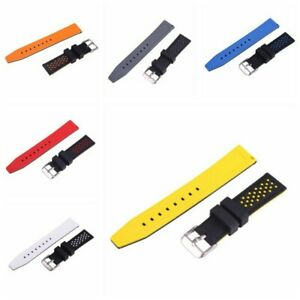 Watch Straps Silicone Rubber Waterproof Diver Watch Band Quick Release Strap