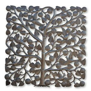Haitian Metal Wall Art Tree of Life One-of-a-Kind Art 34x34 Inches $249.00