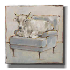 Epic Graffiti 'Moo-ving In III' by Ethan Harper, Giclee Canvas Wall Art