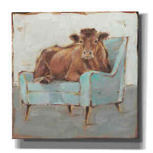 Epic Graffiti 'Moo-ving In IV' by Ethan Harper, Giclee Canvas Wall Art