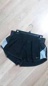 Nike Womens BlackWhite Activewear Drawstring Dri-Fit Running Shorts Sz XL