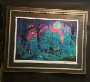 Disney's Haunted Mansion Holiday Framed Lithograph Signed Eric Robison LE 200