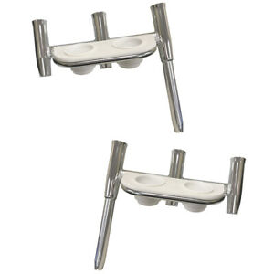 Tigress Offset Triple Rod Holder wCup Holders Port Side & Starboard Side Pol...
