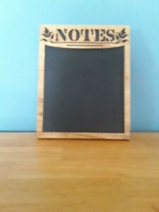 New *Handmade* Wood/Chalkboard Paint -NOTES-Sign