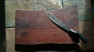 Black Walnut Solid Charcuterie, Cutting, Serving, Cheese Board, Live-Edge, 16