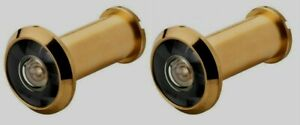 LOT of 2 Ultra Door Viewer 180 Degree Field Of Vision Peep Hole-BRASS PLATED NEW