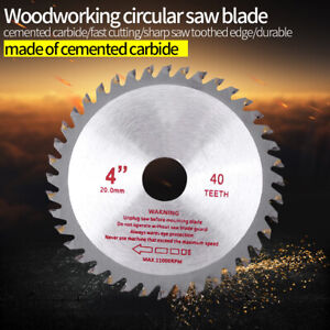 Saw Blade Disc for Angle Grinder 4 Inch TCT Wood Cutting Discs Circular 40 Teeth $9.89