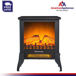 thermomate 18'' Electric Fireplace Stove, Portable Freestanding Fireplace