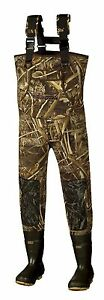 New Men 5mm MAX-5 Camo FishingHunting Neoprene Wader Lug Boots Size 12 Stout