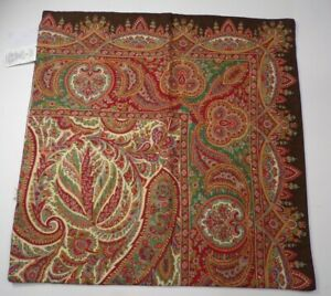 Pottery Barn Norwood Paisley Pillow Cover Multi Warm Colors 18quot; #4775