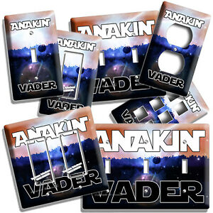 STAR WARS ANAKIN VADER DARK SIDE FUNNY LIGHT SWITCH OUTLET WALL PLATE ROOM DECOR