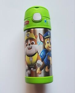 Paw Patrol 12 oz Thermos FUNtainer Bottle,  Green 12 Hrs Stay Cold, New! A31