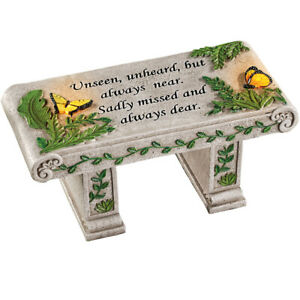 Solar Garden Memorial Stone Bench with Sentiment