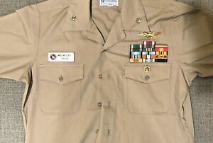 Top Gun 'VIPER' screen used dress shirt costume worn by Tom Skerritt