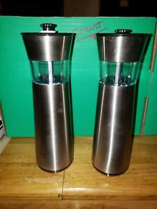 Easygrind Electric Gravity Salt and Pepper Grinder Set in Stainless