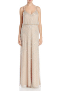 Adrianna Papell Beaded Blouson Gown MSRP $349 Size 12 # 4NA 591 Blm $38.49