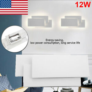 12W Modern LED Wall Light Up Down Cube Indoor Outdoor Sconce Lighting Lamp Decor