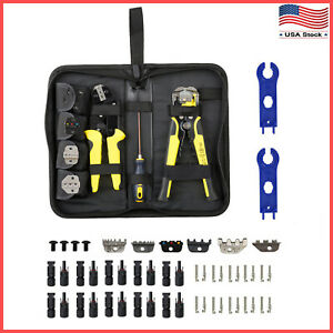 Solar Panel Connector Extension Cable Crimping Stripping Tool Spanner Wrench