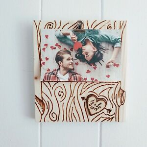 Personalized Tree Engagement Picture Frame Gift for Couple Engrave Wood Frame