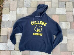 vtg original rare KANYE WEST the college dropout promo Hoodie fits XL 2XL 2004