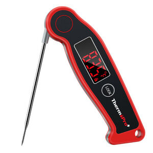 Waterproof Digi Fast Read Meat Cooking Thermometer Foldable Food BBQ Grill Smoke