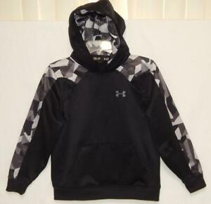 UNDER ARMOUR Youth Boys Loose Fit Black Camouflage Trim Hoodie Size Medium $19.99