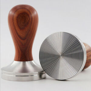 Espresso Coffee Tamper Stainless Steel Ground Wooden Handle Press Tool $24.66