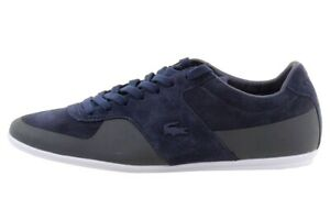 Lacoste Men's Turnier 116 1 Fashion Navy LeatherSuede Sneakers Shoes