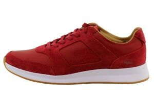 Lacoste Men's Joggeur 116 1 Fashion Red LeatherSuede Sneakers Shoes