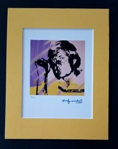 ANDY WARHOL ORIGINAL 1984 SIGNED NUMBERED JACK NICKLAUS PRINT MATTED 11X14