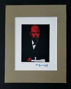 ANDY WARHOL ORIGINAL 1984 SIGNED NUMBERED LENIN USSR PRINT MATTED 11X14