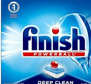 Finish Powerball Deep Clean Dishwasher Detergent Tabs - Bulk Lot of 450! NEW!